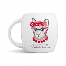 """Kruus kingituseks Frida """"I am my own muse the subject I know best"""""""