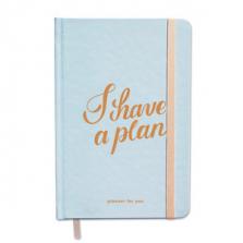 """Märkmik-planeerija kingituseks """"I have a plan"""", türkiis"""