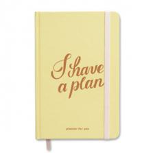 """Märkmik-planeerija kingituseks """"I have a plan"""", kollane"""