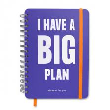"""Suur märkmik kingituseks """"I HAVE A BIG PLAN"""""""