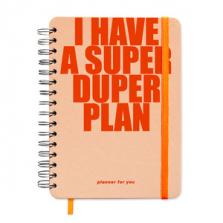 """Suur märkmik kingituseks """"I HAVE A SUPER DUPER PLAN"""""""